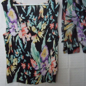 Notations 2 Pc Top Set Tropical Floral XL Colorful